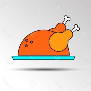 300x300 Bitten Chicken Or Turkey Leg Vector Illustration Illustration