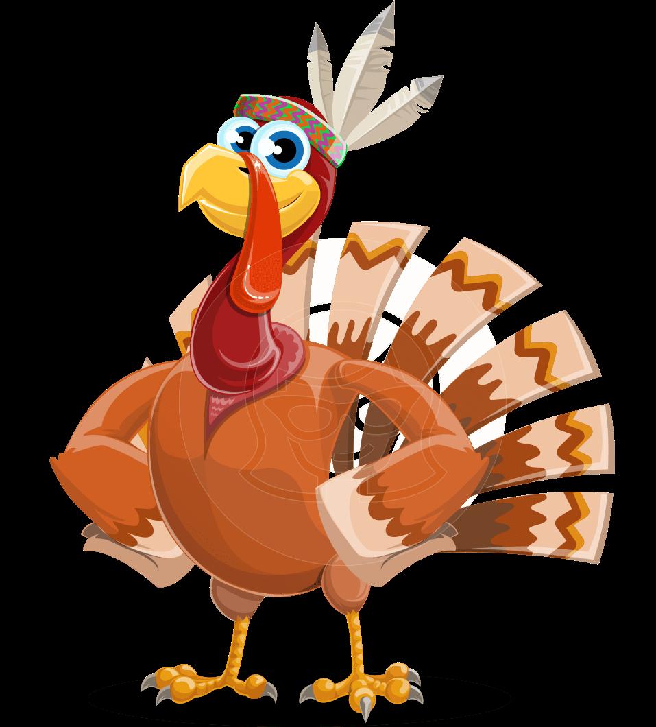 957x1060 Snoody The Native Turkey Vector Cartoon Character Graphicmama