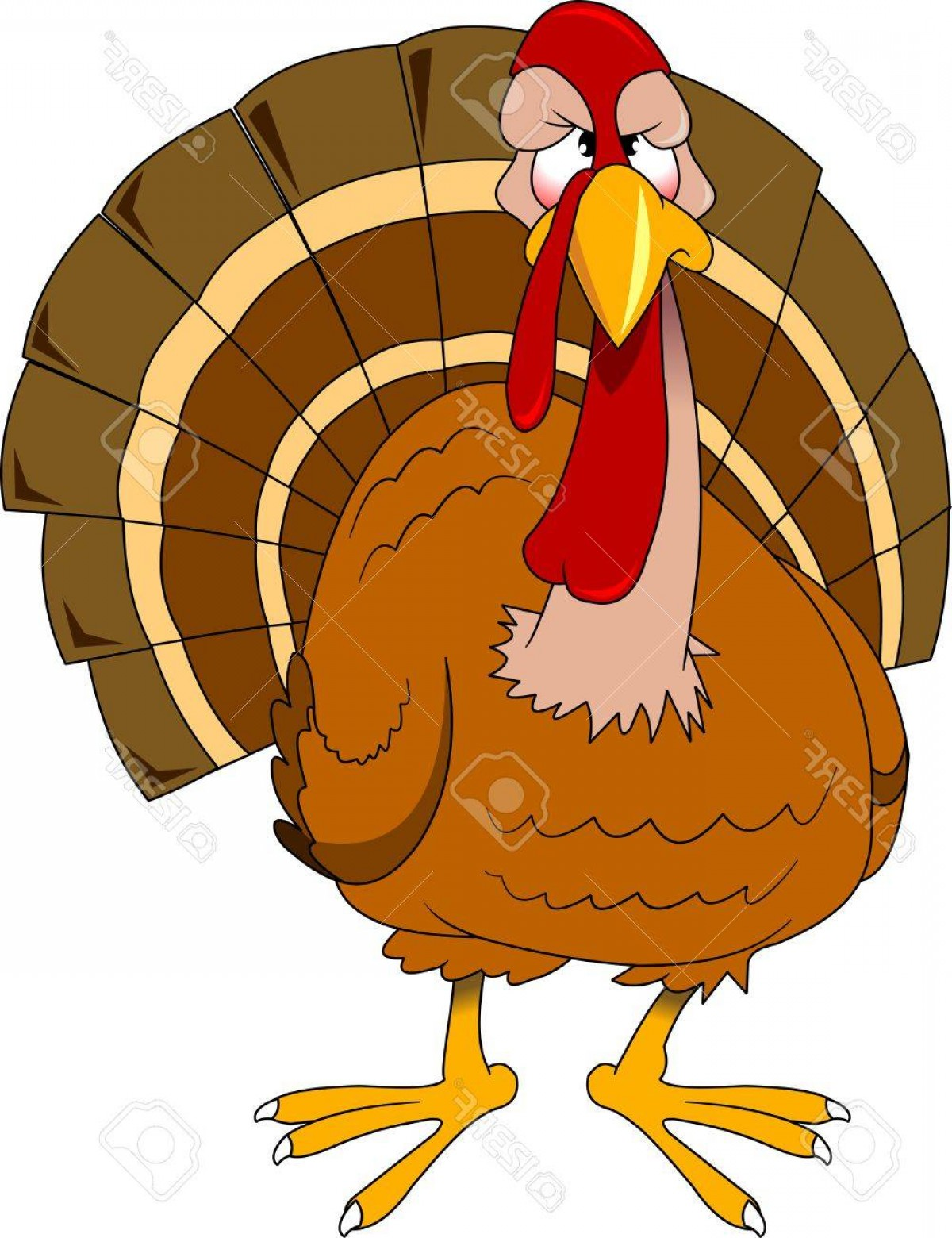 1200x1560 Photostock Vector Cute Cartoon Thanksgiving Turkey Vector And