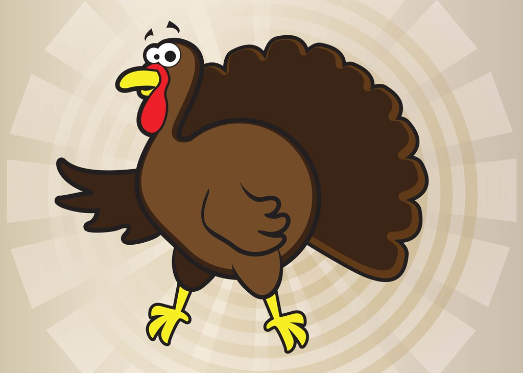 1024x730 Turkey Cartoon Vector Vector Art Amp Graphics