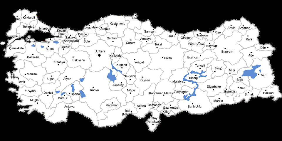 960x480 Turkey Map Vector Turkey Vector Map Turkey Map Provinces Free