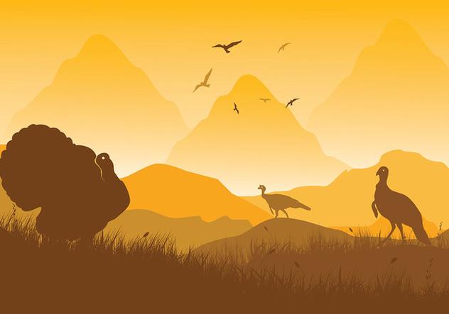 632x443 Wild Turkey Scene Vector Free Vector Download 417271 Cannypic