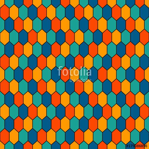 500x500 Seamless Pattern With Diamonds Grid. Turtle Shell Motif. Honeycomb