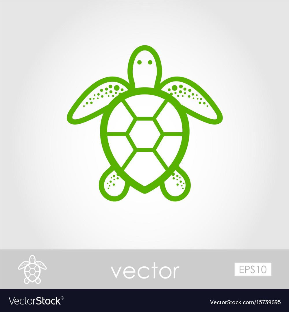 1000x1080 Perfect Outline Of Turtle Filled Icon Stock Vector Illustration