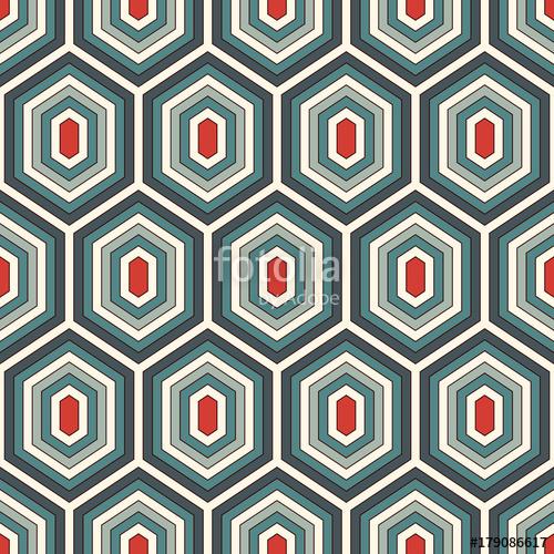 500x500 Seamless Pattern With Diamonds. Turtle Shell Motif. Honeycomb