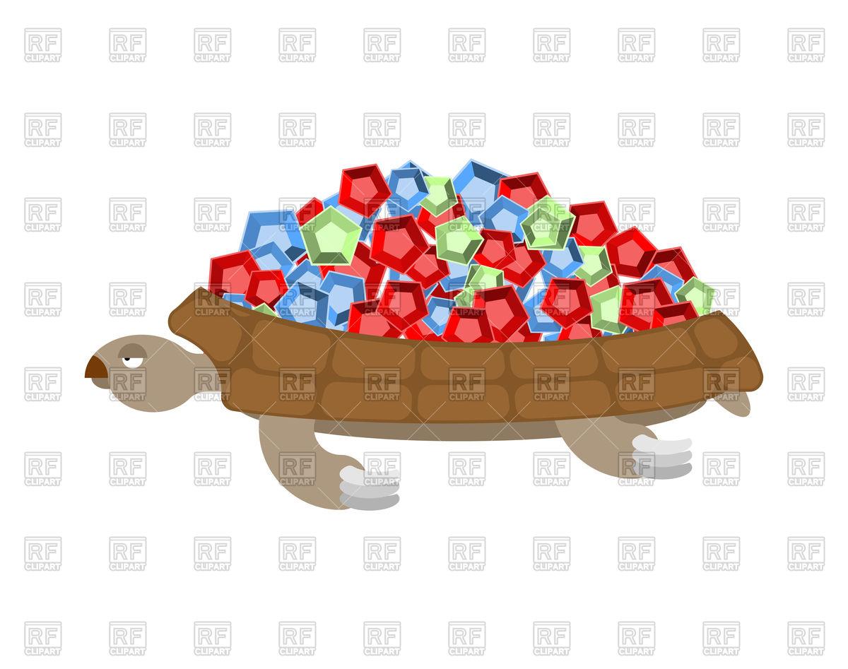 1200x947 Turtle Gemstones. Treasure On Shell. Vector Image Vector Artwork