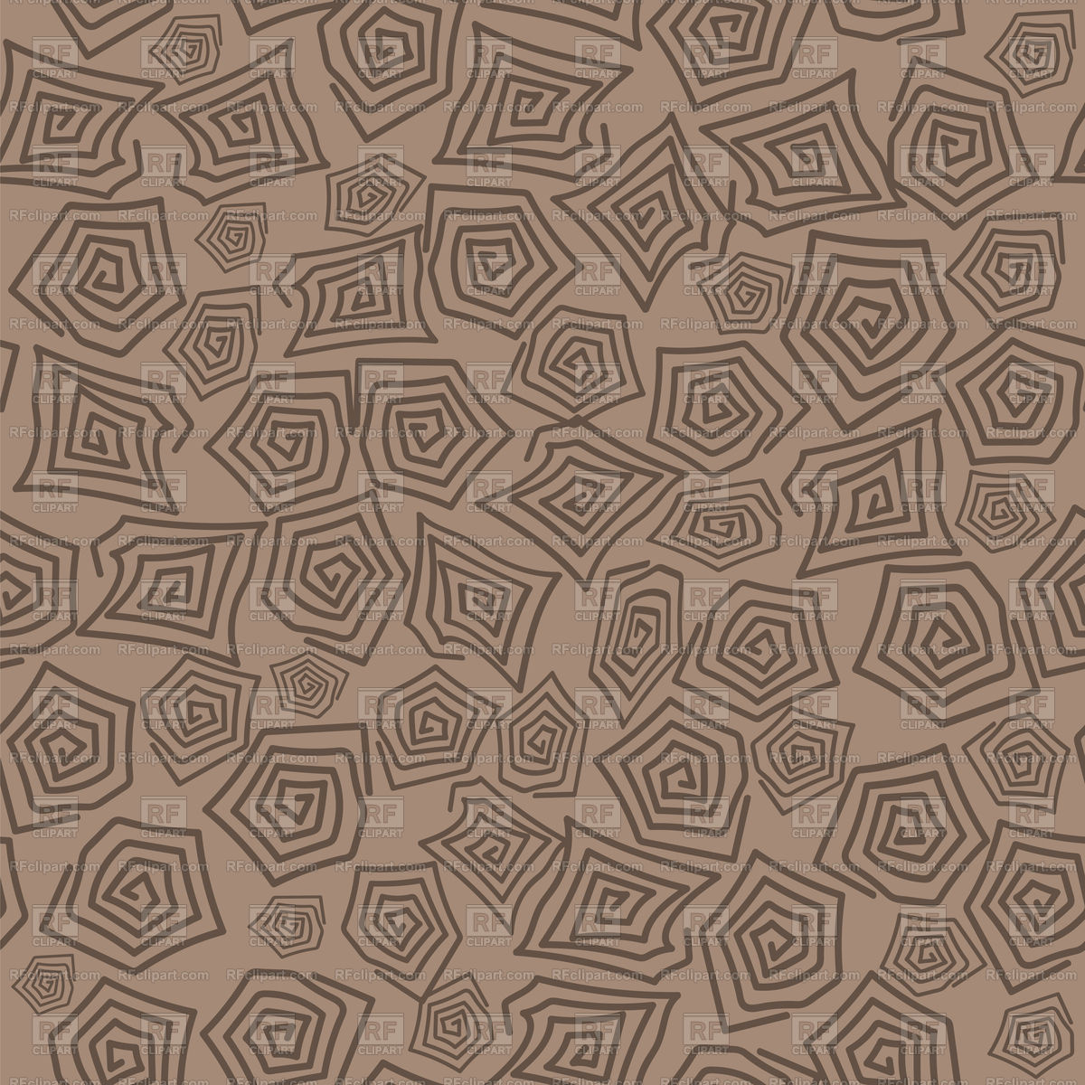 1200x1200 Turtle Shell Seamless Pattern On Brown Background Vector Image