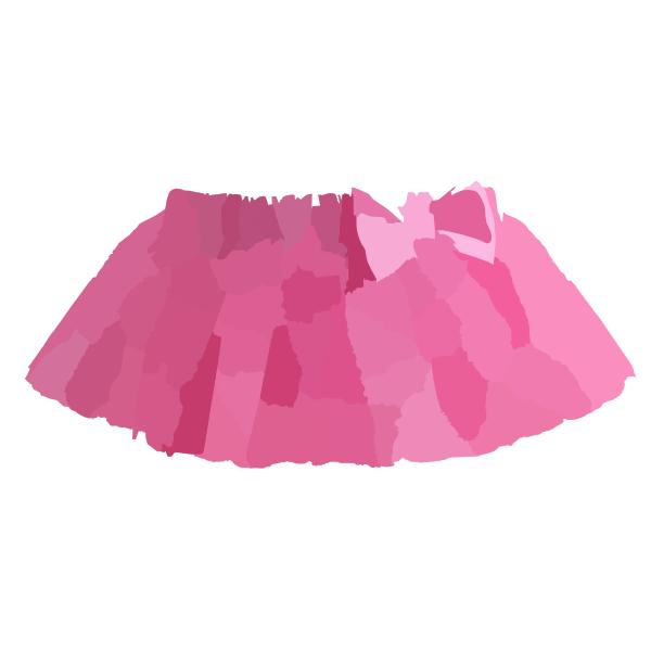 600x600 Pink Tutu View Clip Art