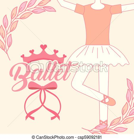 450x470 Beautiful Ballerina Ballet Classic Tutu Vector Illustration.