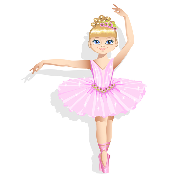 600x600 Cute Ballerina In A Pink Tutu Vector 01 Free Download