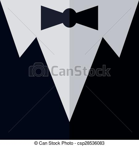 450x470 Tuxedo Wardrobe Theme Vector Art Graphic Illustration.
