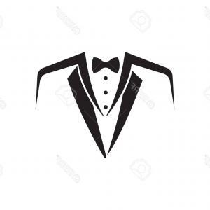 300x300 Colored Flat Vector Design Black White Bow Tie Tuxedo Colored Flat