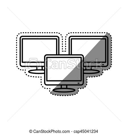 450x470 Modern Smart Tv Icon Vector Illustration Graphic Design Vectors