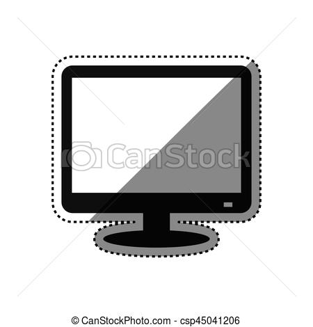 450x470 Modern Smart Tv Icon Vector Illustration Graphic Design.