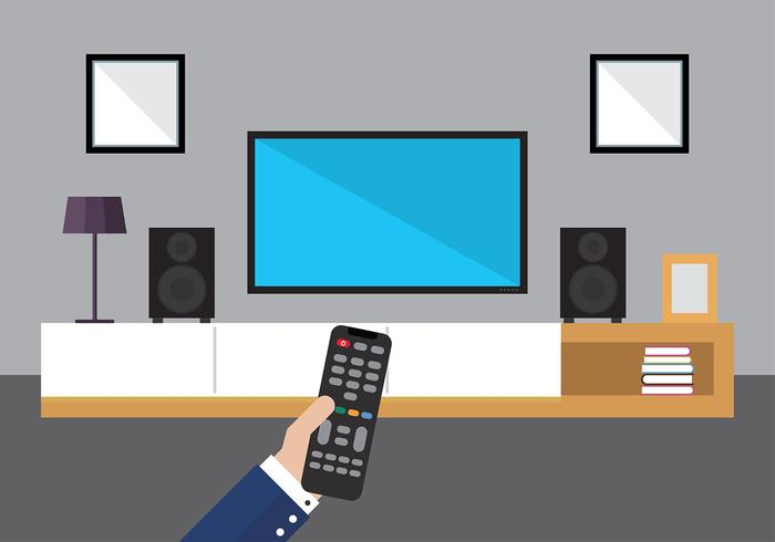 700x490 Hand With Tv Remote Free Vector