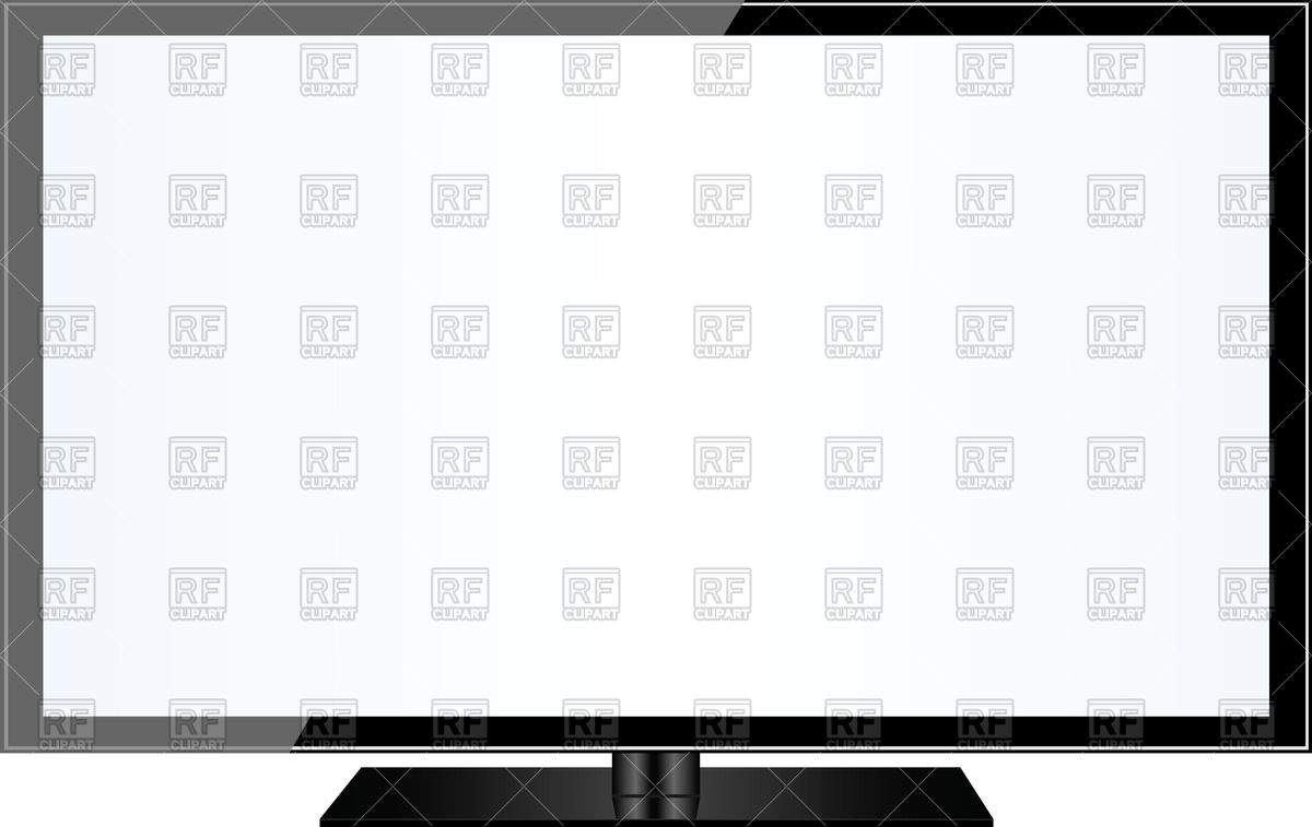 1200x757 Modern Flat Tv Screen Vector Image Vector Artwork Of Objects