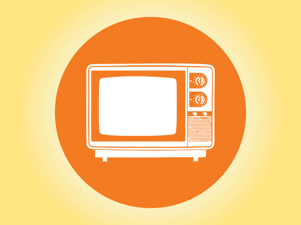 1024x765 Tv Icon Vector Vector Art Amp Graphics