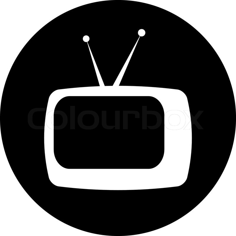 800x800 Cute Retro Tv Vector Stock Vector Colourbox
