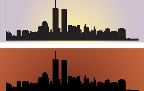 Twin Tower Vector