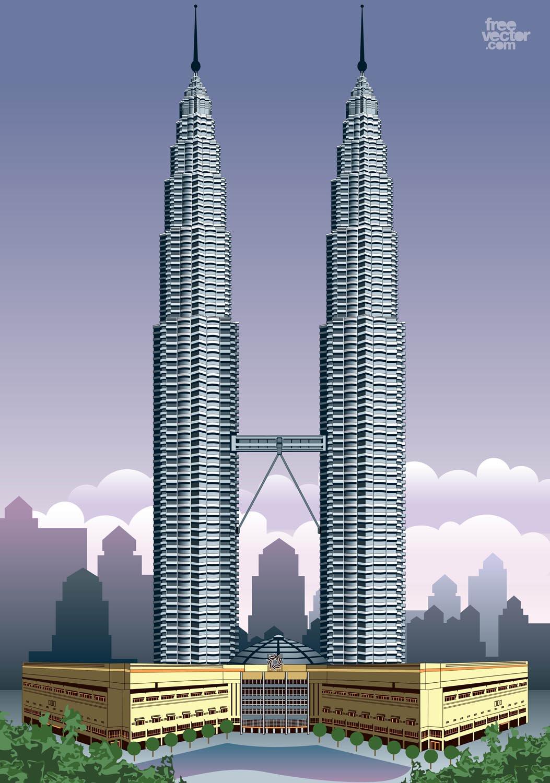 1053x1500 Petronas Towers Vector Art Amp Graphics