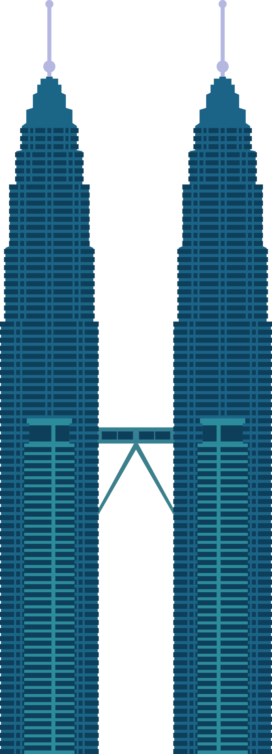 866x2400 Petronas Twin Towers Icons Png
