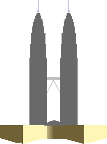 372x500 Petronas Twin Towers Silhouette Vector Drawing Public Domain Vectors