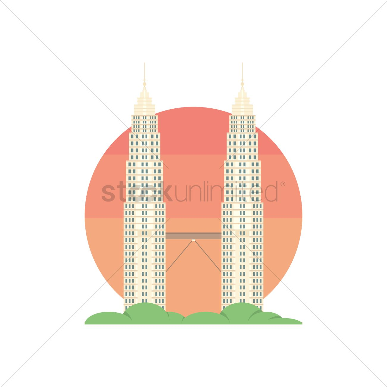 1300x1300 Petronas Twin Towers Vector Image