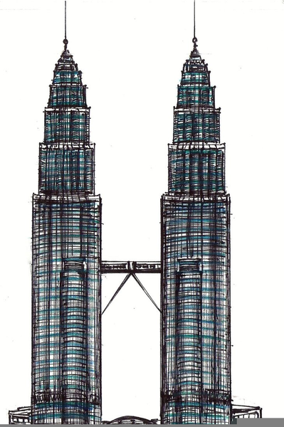 399x600 Skyscraper Clipart Twin Towers