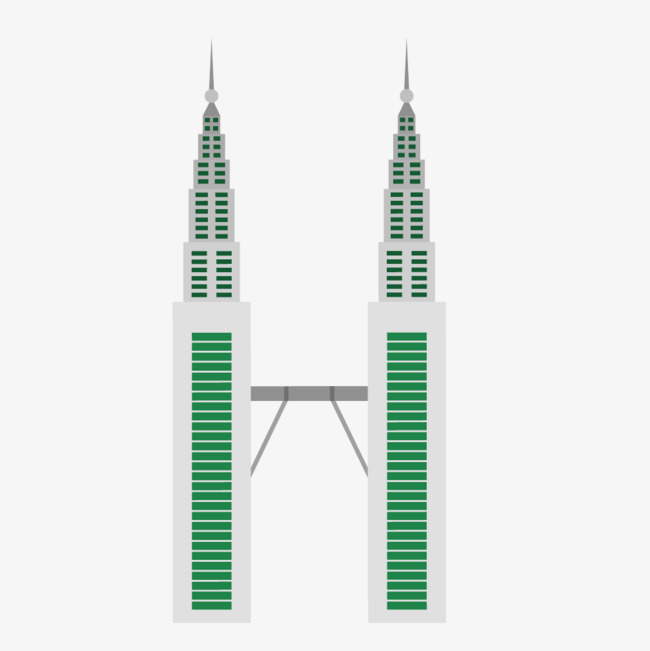 650x651 Famous Petronas Twin Towers Building, Building Vector, Foreign