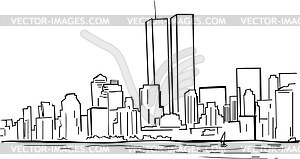 300x159 Former New York Skyline With Wtc Twin Towers