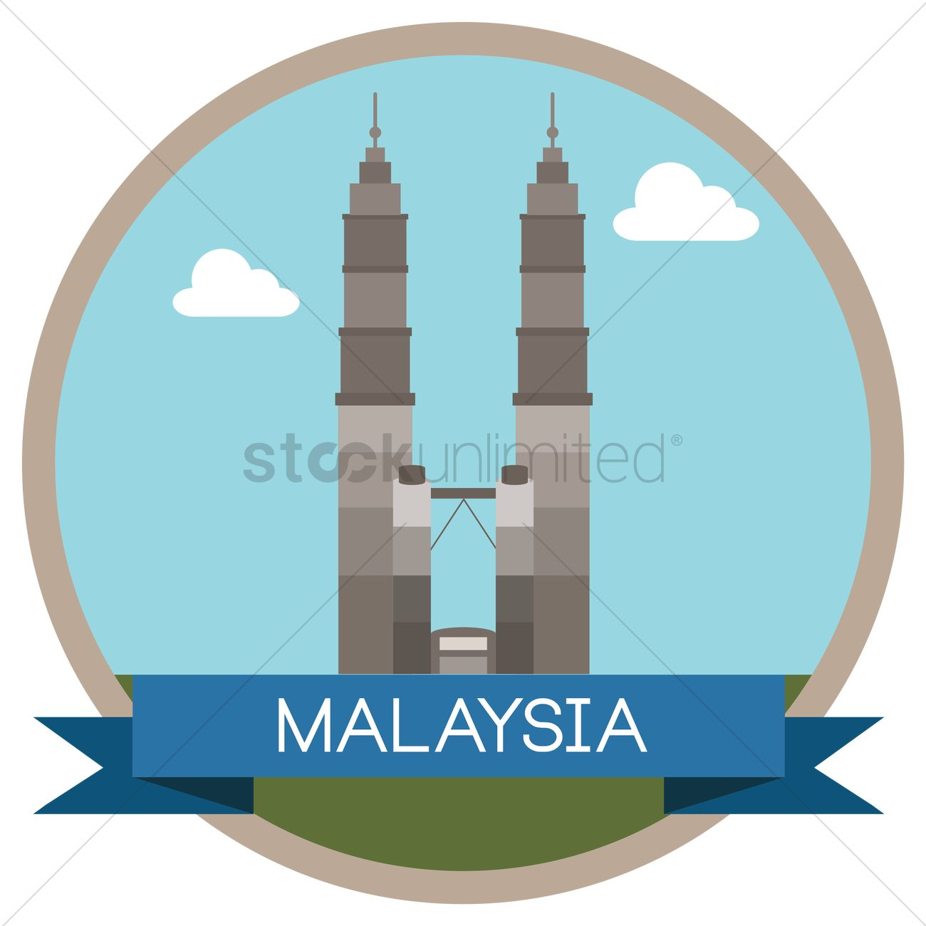 1300x1300 Free Petronas Twin Towers Vector Image