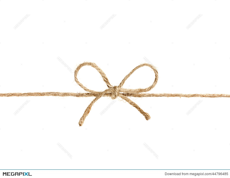 800x621 String Or Twine Tied In A Bow Isolated On White Stock Photo