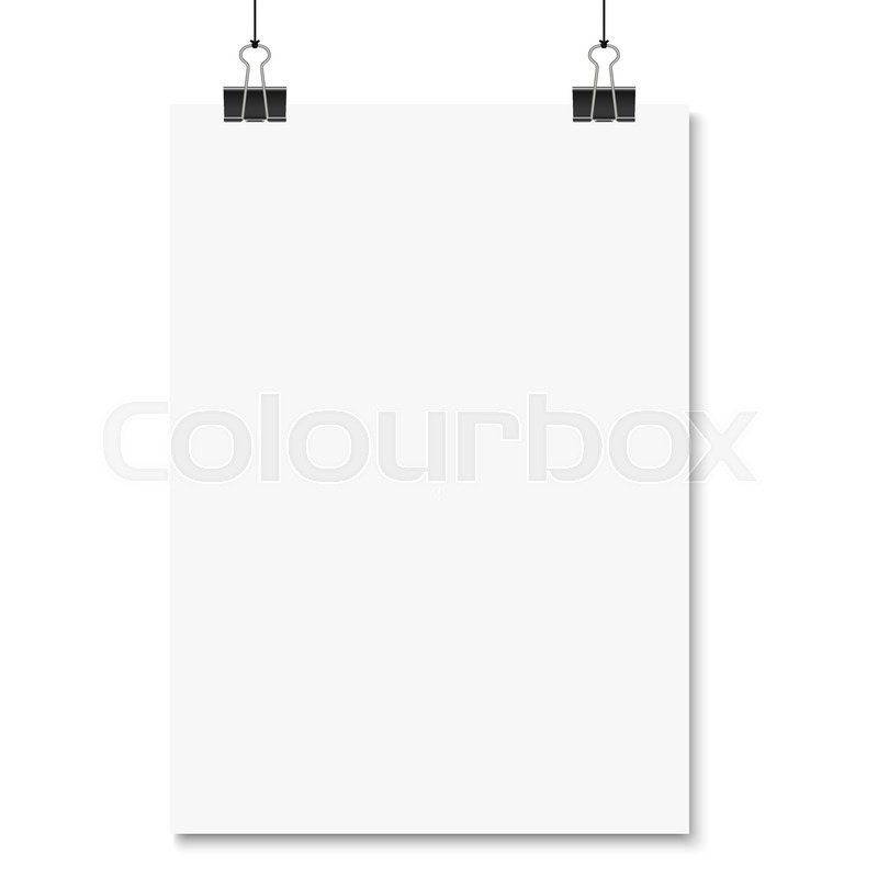 800x800 Empty Paper With Binder Clips Hanging