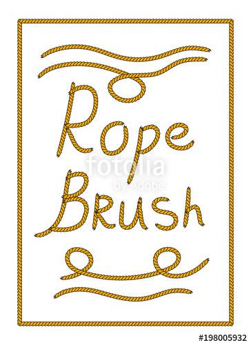 364x500 Natural Brown Tangled Twine Rope Illustrator Brush, Vector Stock