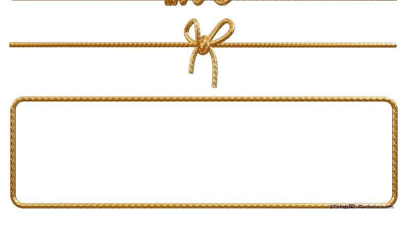 800x452 Paper Rope Gold Euclidean Vector