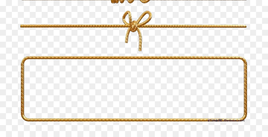 900x460 Paper Rope Gold Euclidean Vector
