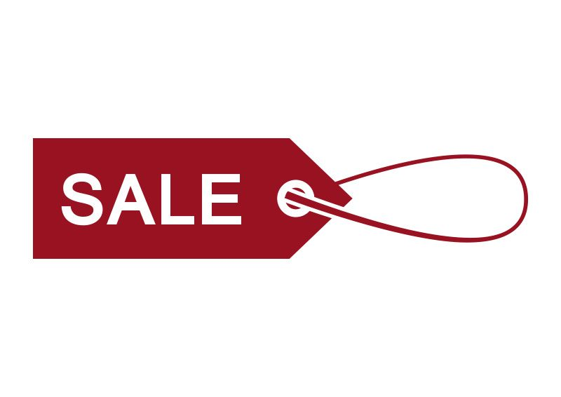 800x566 Red Sale Label With Twine