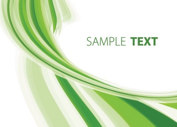 600x431 Green Stripe Twist Abstract Vector Background