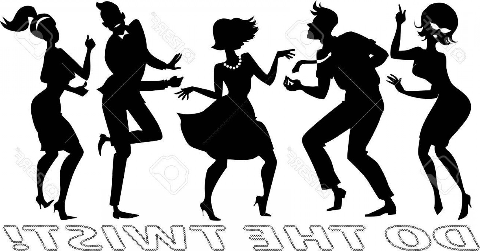 1560x816 Photostock Vector Black Vector Silhouettes Of People Dressed In