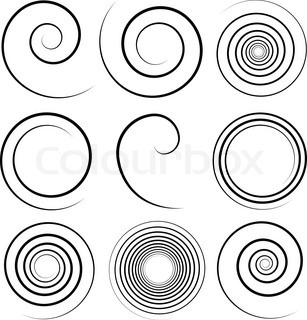 307x320 Archimedean Spiral Isolated On White. Vector Illustration. Stock