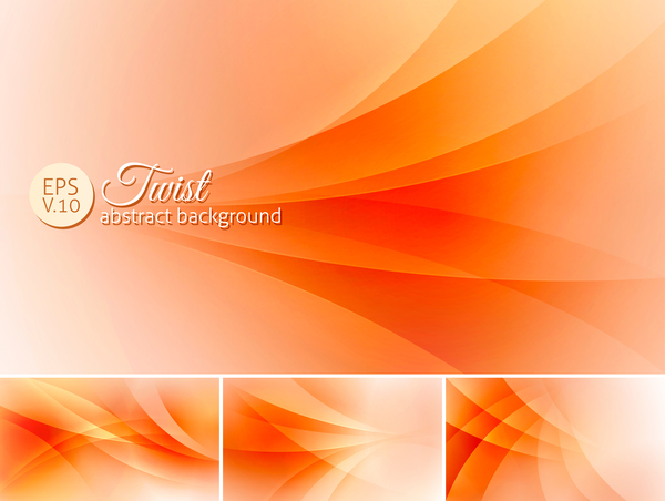 600x452 Twist Abstract Background Orange Vector Free Download