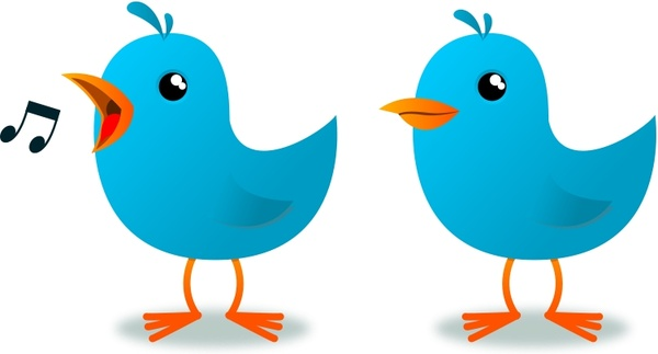 600x323 Twitter Bird Mascot Free Vector In Open Office Drawing Svg ( .svg