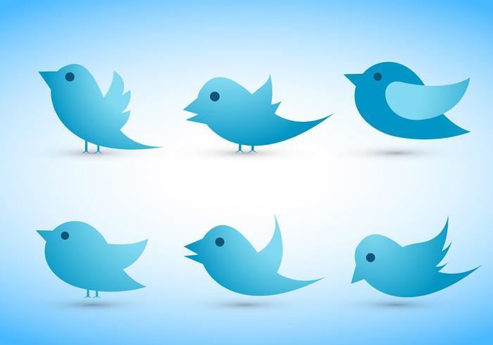 700x490 Twitter Bird Vectors Set