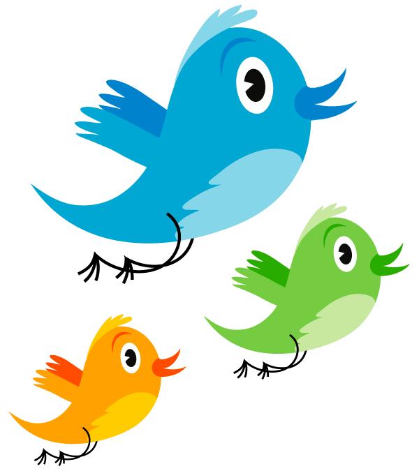 600x675 Cute Twitter Bird Vector Image 123freevectors