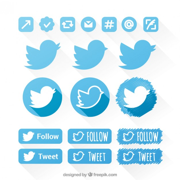 626x626 Twitter Icons Set Vector Free Download