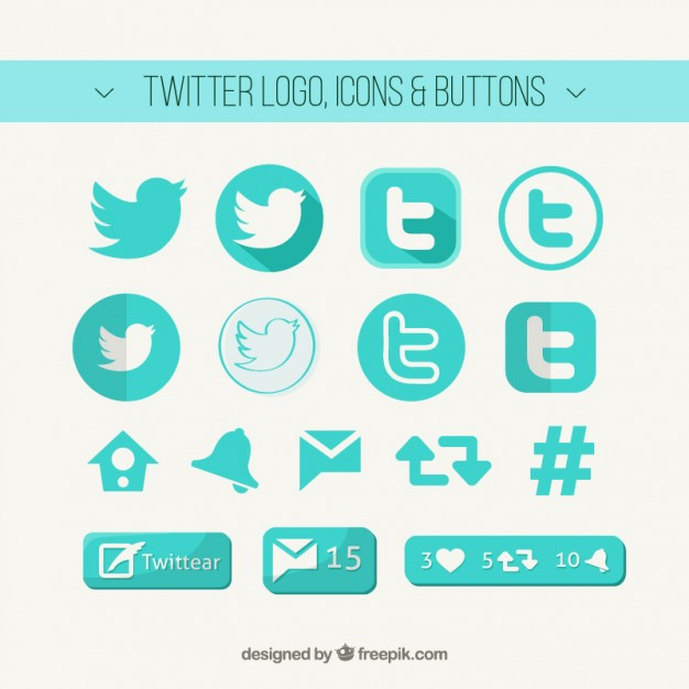 626x626 Twitter Logo, Icons And Buttons Vector Free Download