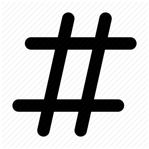512x512 Code, Hashtag, Hex, Number, Serial, Sharp, Twitter Icon