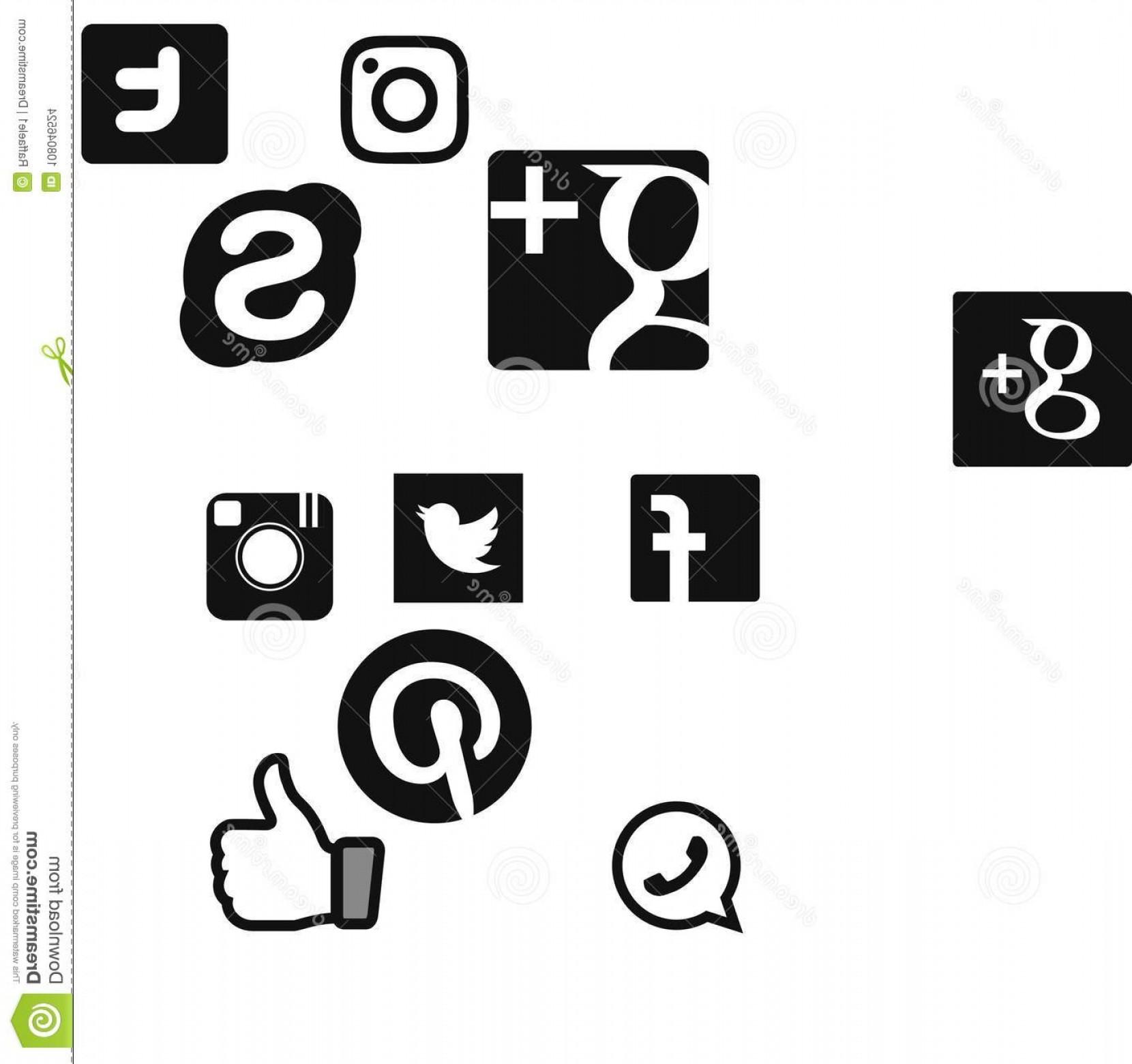 1660x1560 Social Network Logo Vector Google Skype Twitter Instagram Facebook