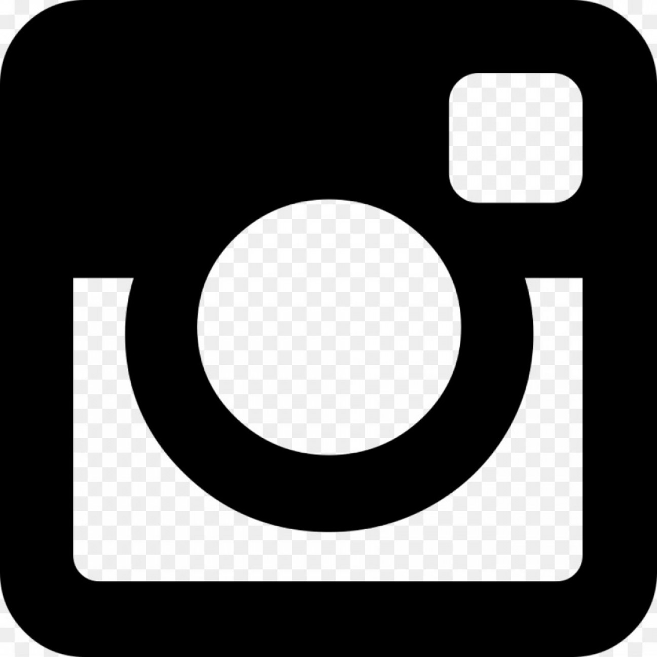 1296x1296 Twitter Icon Black And White Vector