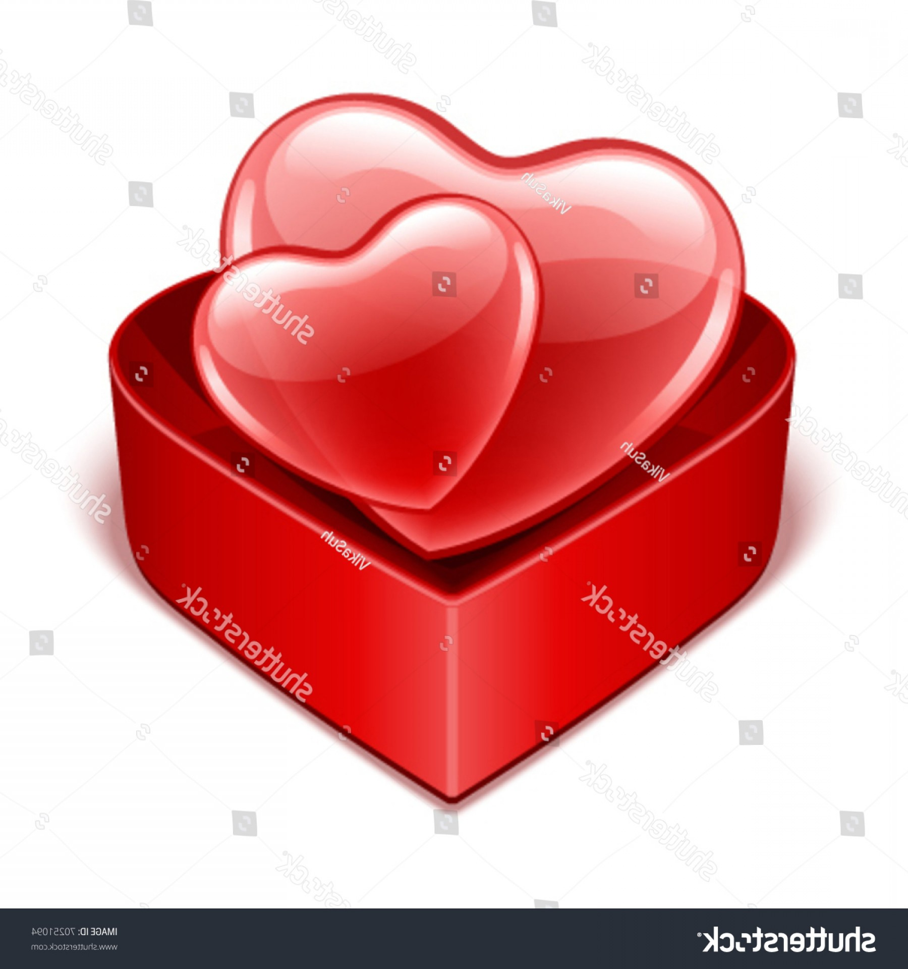 1800x1920 Stock Vector Open Heart Gift Present With Two Hearts Vector